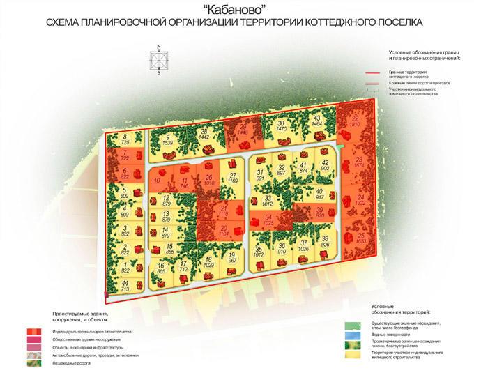 Коттеджный посёлок  «Кабаново» по адресу Московская обл, Ногинский р-н, Кабаново д в 28.3км от МКАД