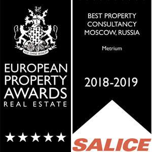 Метриум - лучший консультант в недвижимости по версии European Property Awards