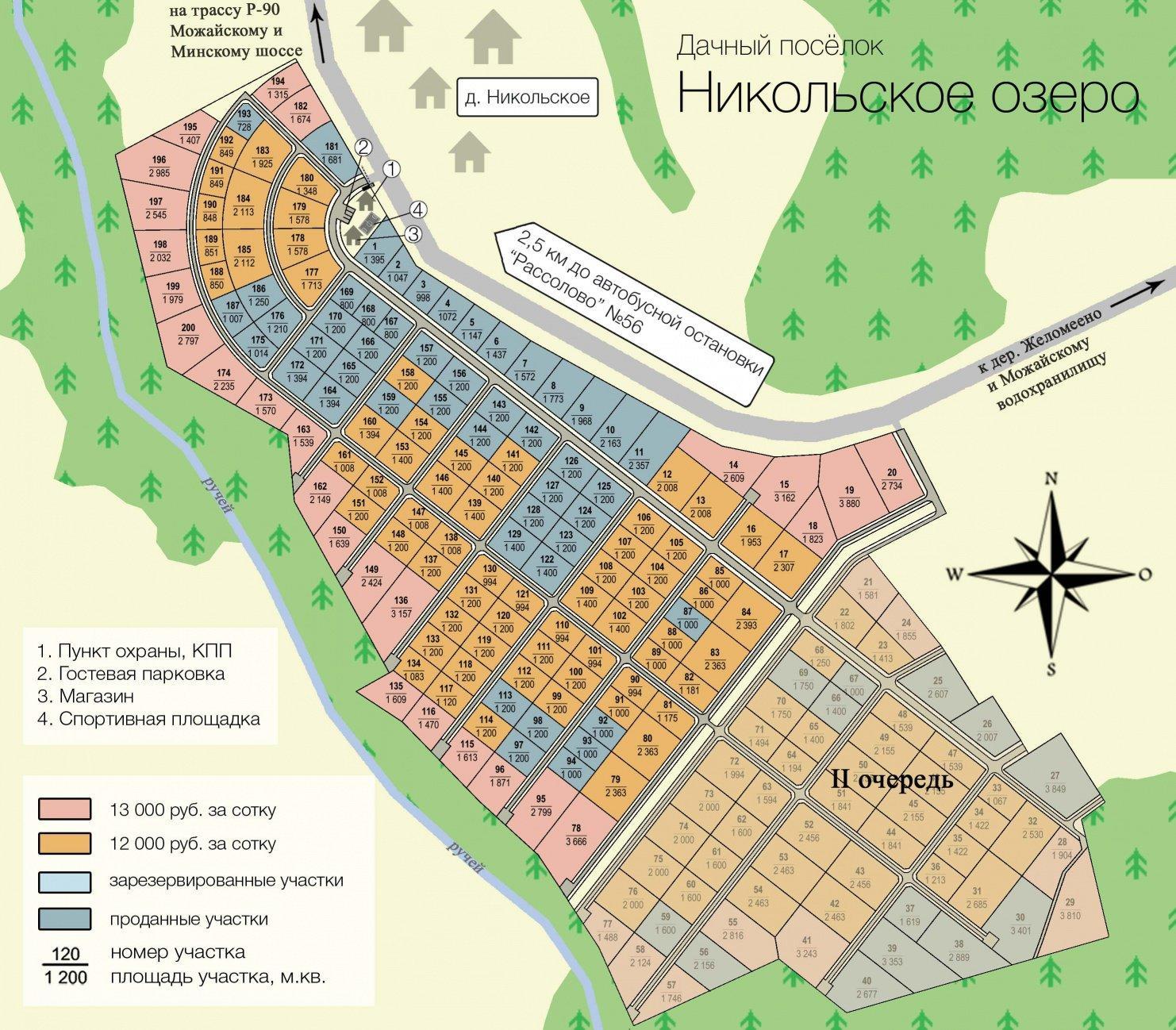 """КП """"Никольское Озеро"""" генплан №1"""