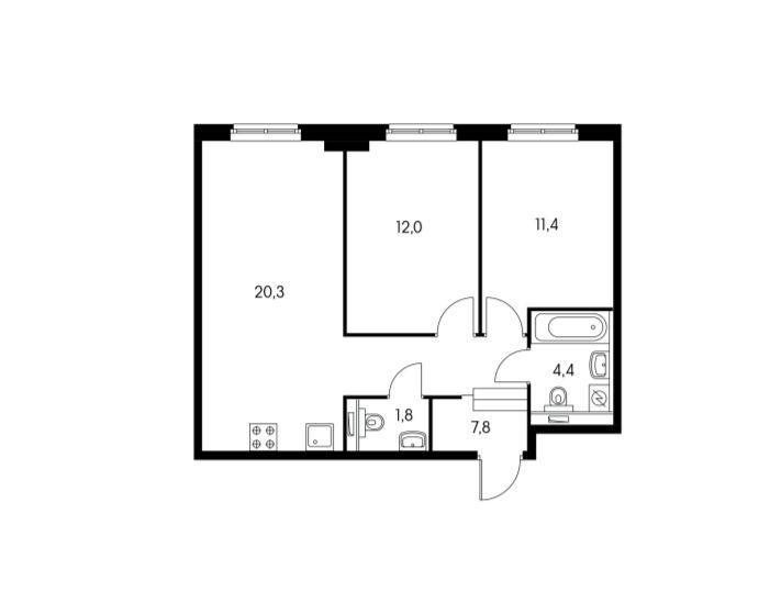 Планировки дома 28, 30, 32, 34